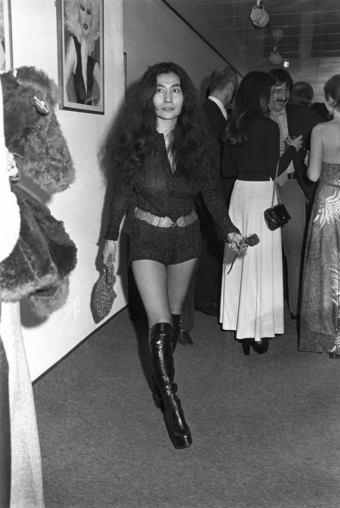 yoko, ono, platform, boots, the, beatles, 1970s, style