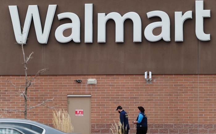 Thonton, Colo., Walmart. Employees head in to a Walmart store, in Thornton, Colo. A man suspected of fatally shooting several inside the suburban Denver Walmart on Wednesday, was arrested 14 hours later following a brief car chase Thursday that ended at a congested intersection, police saidWalmart Shooting Colorado, Thornton, USA - 02 Nov 2017
