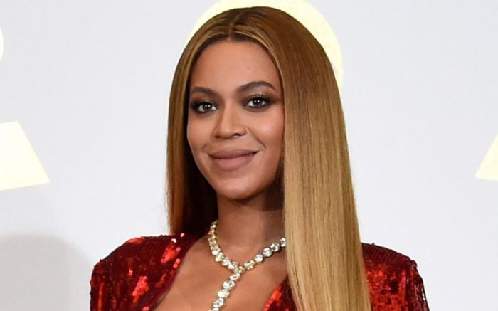 "Beyonce poses in the press room at the 59th annual Grammy Awards in Los Angeles. The singer reveals she had an emergency Caesarean section when she delivered her twins. In a series of essays in September's Vogue magazine, she says she was 218 pounds and was swollen from toxemia. The 36-year-old says they spent many weeks in intensive care and her husband, Jay Z, was ""such a strong support systemPeople Beyonce, Los Angeles, USA - 12 Feb 2017"