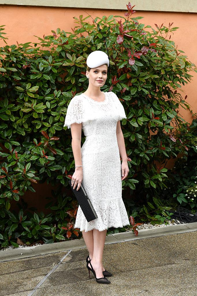 Lady Kitty SpencerRoyal Ascot, Day 1, UK - 18 Jun 2019 Wearing Dolce & Gabbana