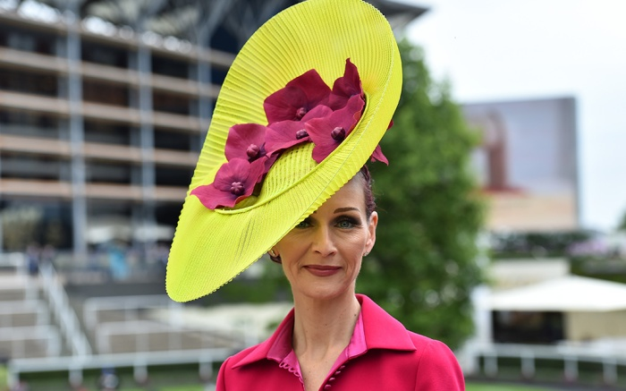 A racegoer arrives at the course on the first day.Royal Ascot, Day 1, UK - 18 Jun 2019