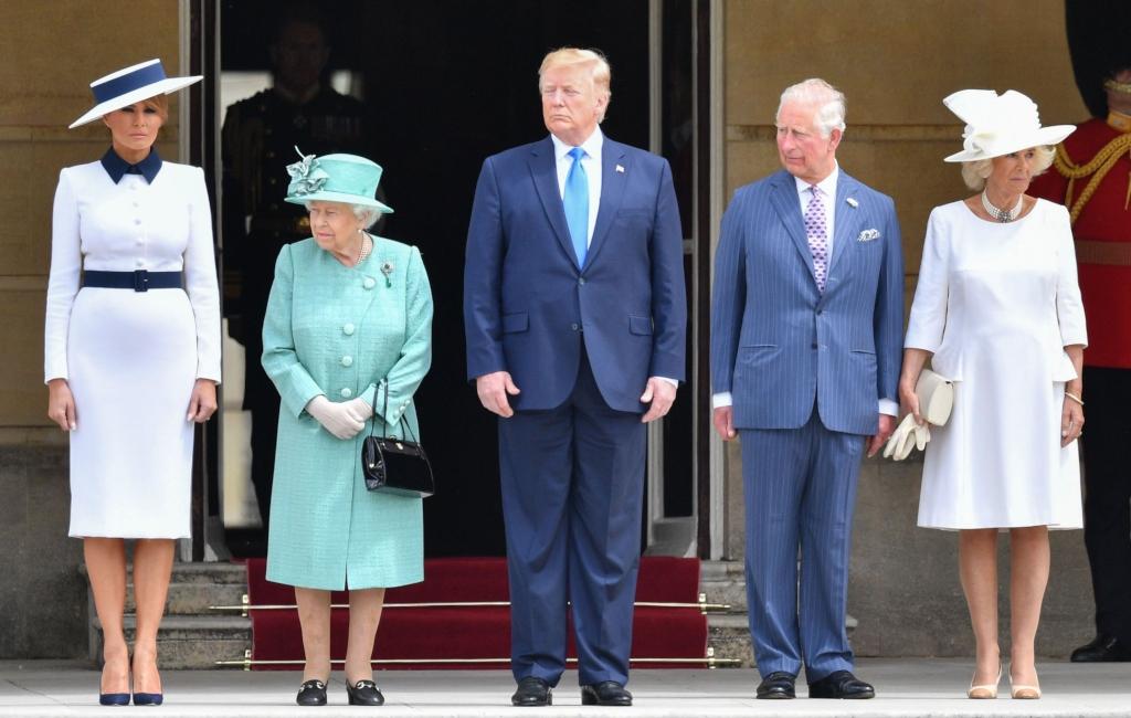 melania trump, president trump, prince charles, queen Elizabeth, Camilla, the Duchess of Cornwall
