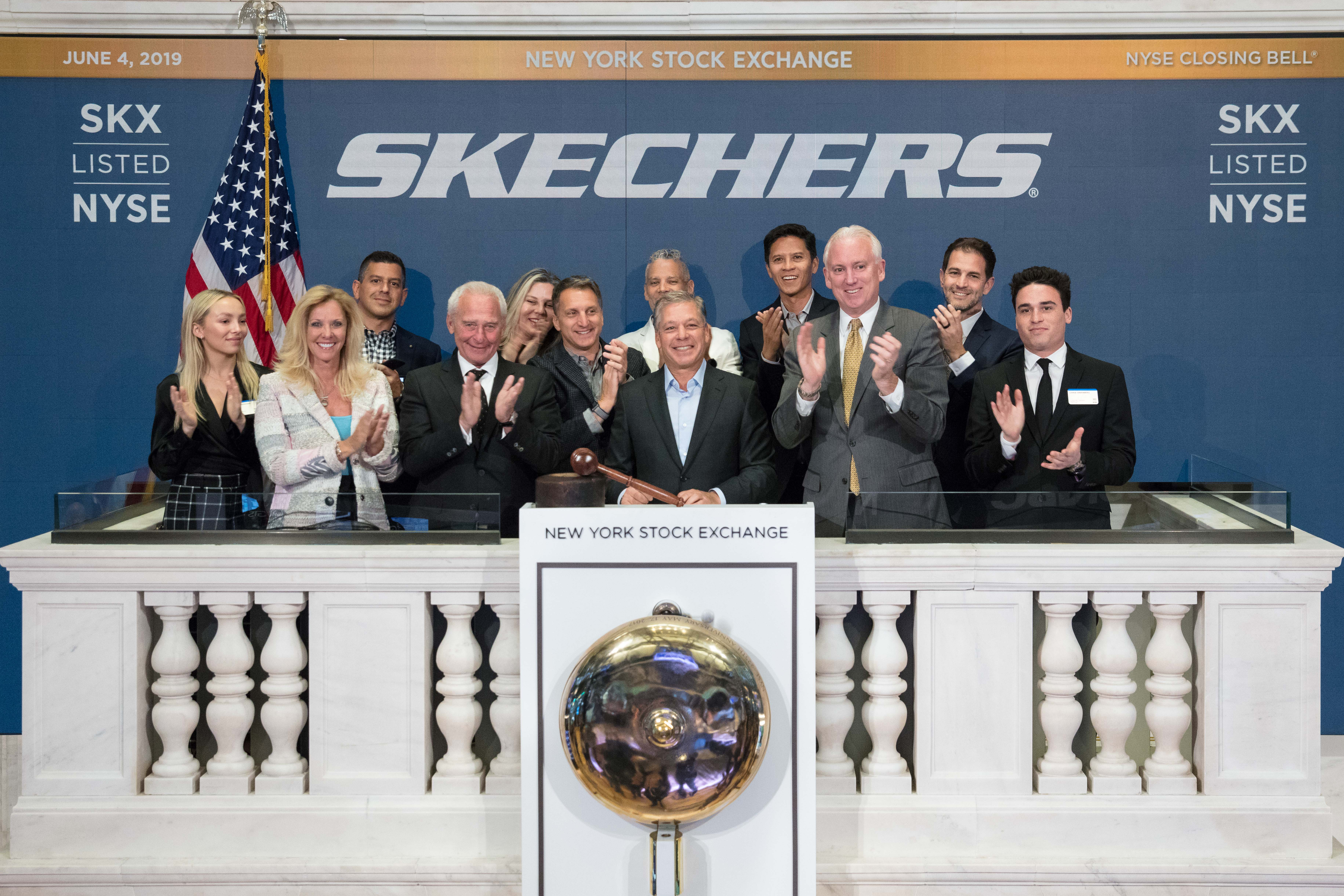 The New York Stock Exchange Skechers U.S.A. (NYSE: SKX) in celebration of their 20th Anniversary of Listing. Michael Greenberg, President, joined by Jim Byrne, NYSE Head of U.S. Listings, rings The Closing Bell®.