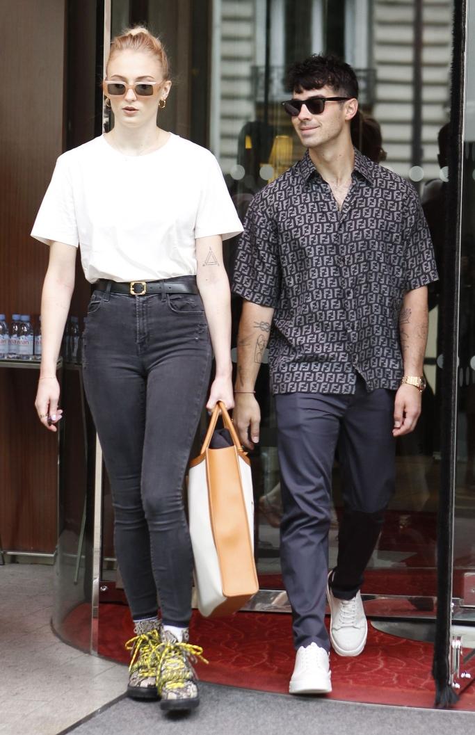 Sophie Turner and Joe Jonas in paris, street style