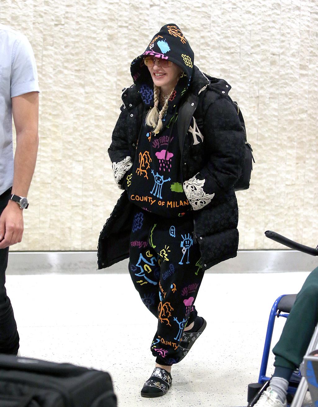 Madonna Louis Vuitton Birkenstock Street style