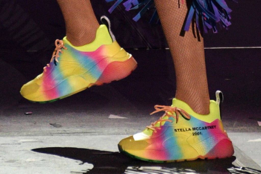 Taylor Swift At Wango Tango In Rainbow Tie Dye Stella Mccartney Kicks Footwear News