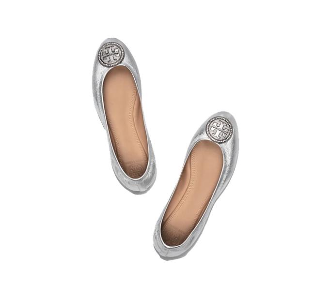 Tory Burch Liana Metallic Ballet Flat