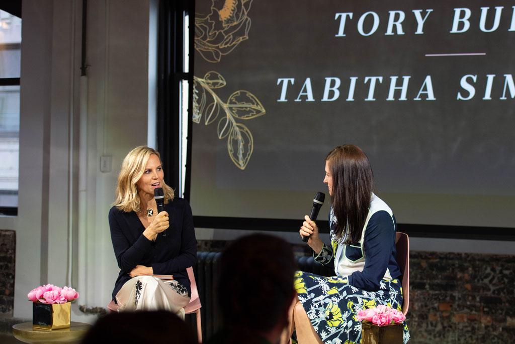 Tory Burch and Tabitha Simmons