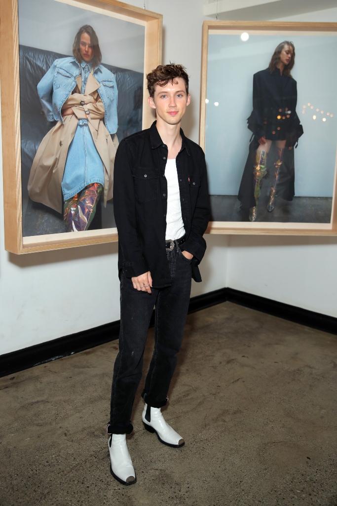 troye sivan, levi's launch, Calvin Klein Western Claire Chelsea boots