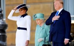 melania trump, president donald trump, queen