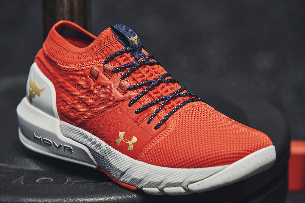 Under Armour Project Rock 2 shoes, red