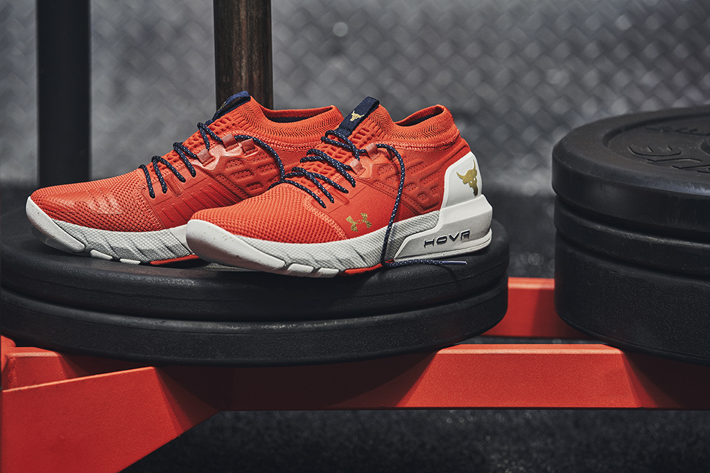 Under Armour Project Rock 2, red shoes