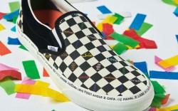 classic slip on vans pride shoes,