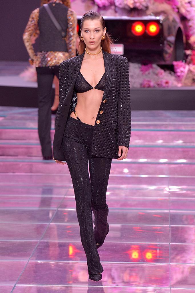 Bella Hadid on the catwalkVersace show, Runway, Spring Summer 2020, Milan Fashion Week Men's, Italy - 15 Jun 2019
