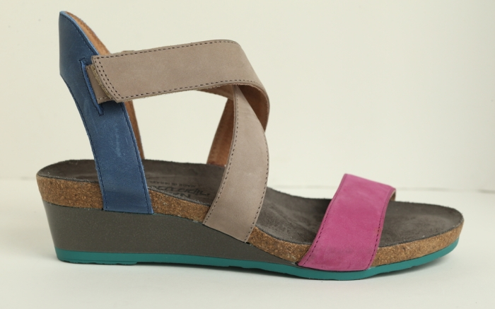 Naot multi-color wedge sandal