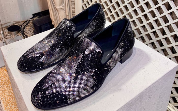 Giuseppe Zanotti, spring 2020, men's milan fashion week, crystal loafers, tie-dye trend,