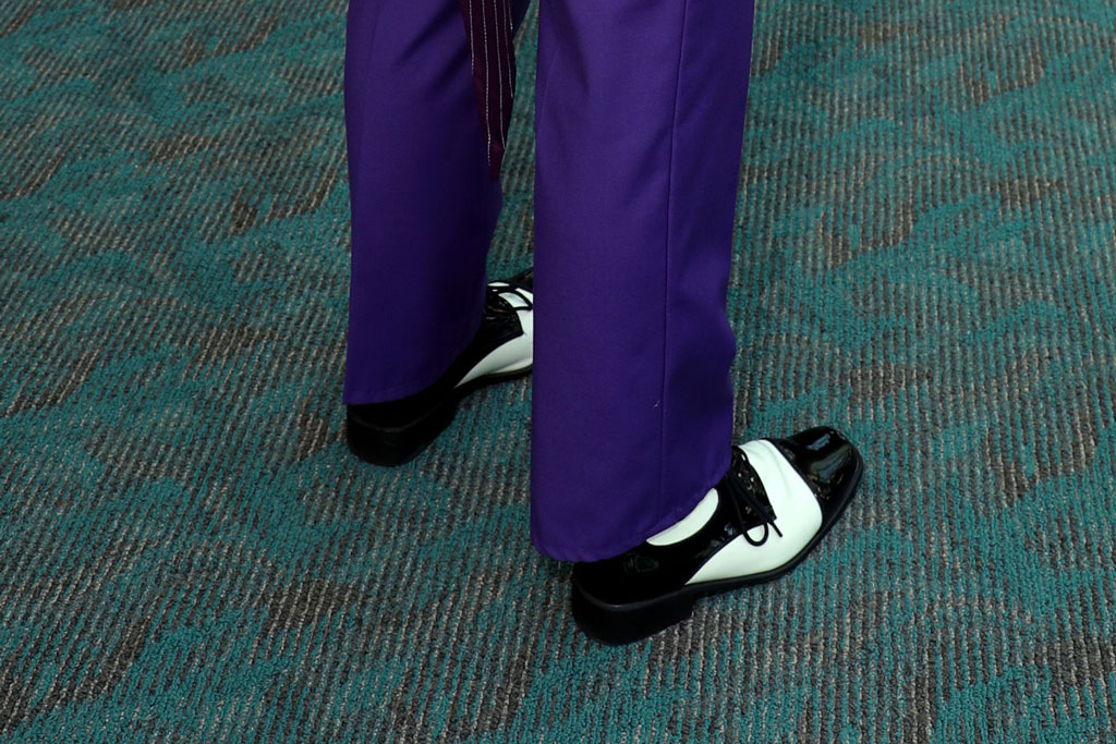The Joker, Comic-Con, San Diego, shoe style, batman, oxfords , lace-ups