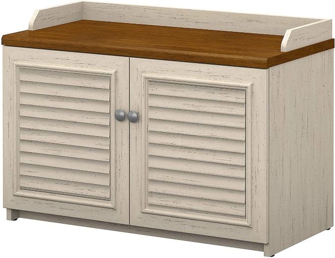 shoe storage bench, shoe storage cabinet, Bush Furniture Fairview Shoe Storage Bench