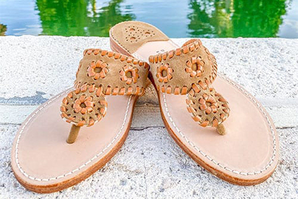 palm beach sandals, chino suede sandals, american made shoes