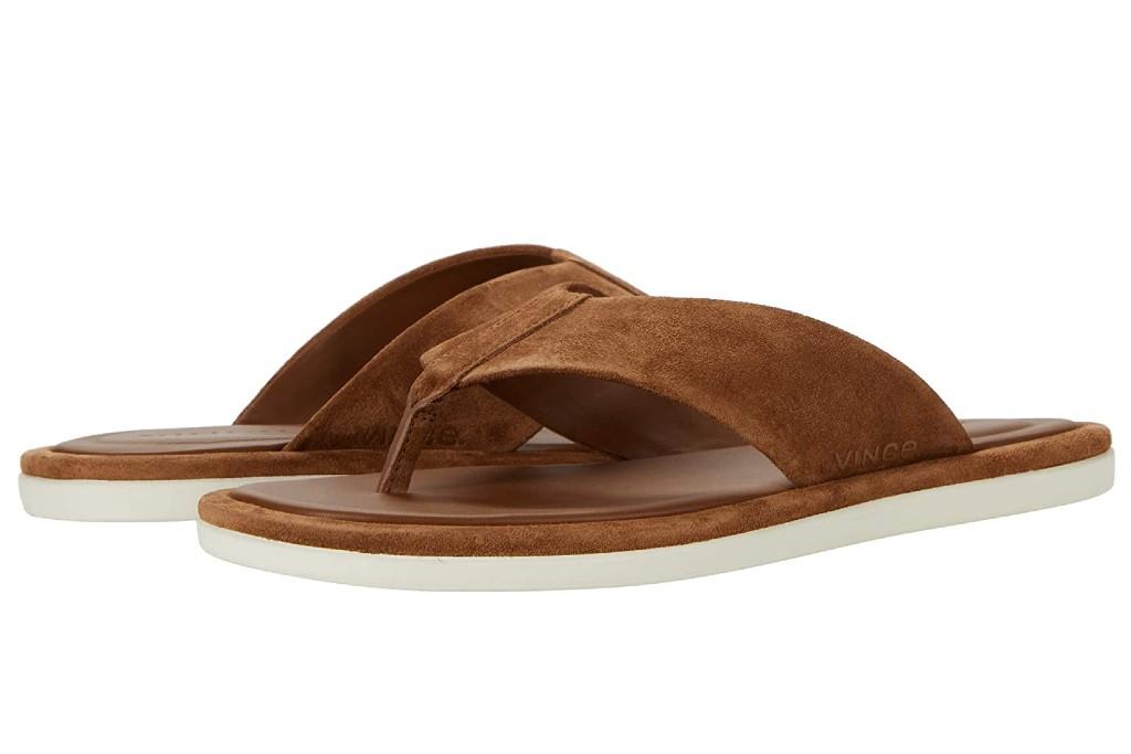 vince dean flip flops, men's flip flops