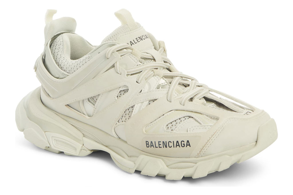 Hailey Baldwin, Balenciaga track sneaker, celebrity style