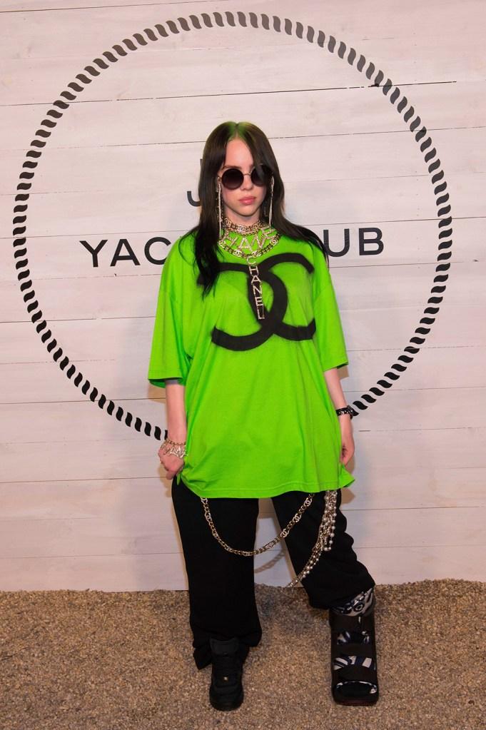 Billie Eilish attends Chanel's J12 Yacht Club dinner event at Sunset Beach, in Shelter Island, NYChanel J12 Yacht Club Dinner Event, Shelter Island, USA - 20 Jul 2019