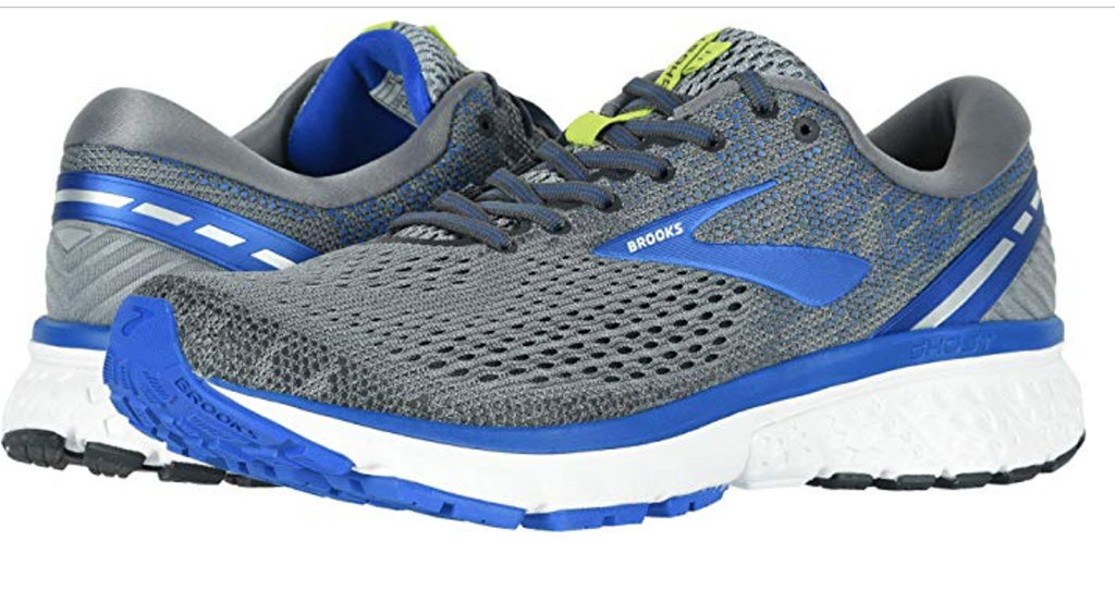 brooks ghost 11 mens running shoes, blue, gray