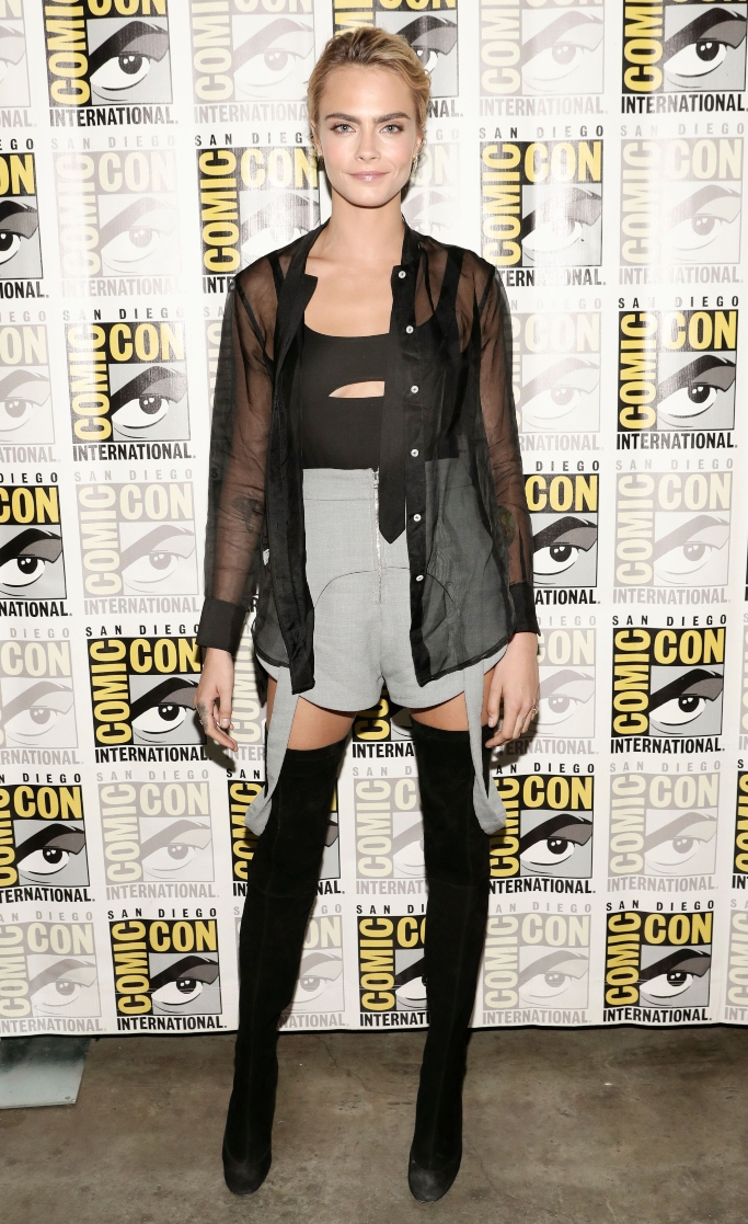2019 Comic-Con, Christian Louboutin Kiss Me Gina 85 over-the-knee boots, cara delevingne,