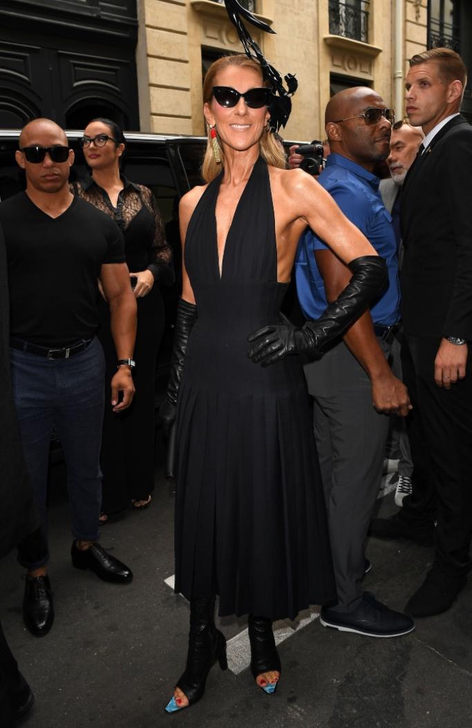 celine dion, Schiaparelli show, paris haute couture fashion week