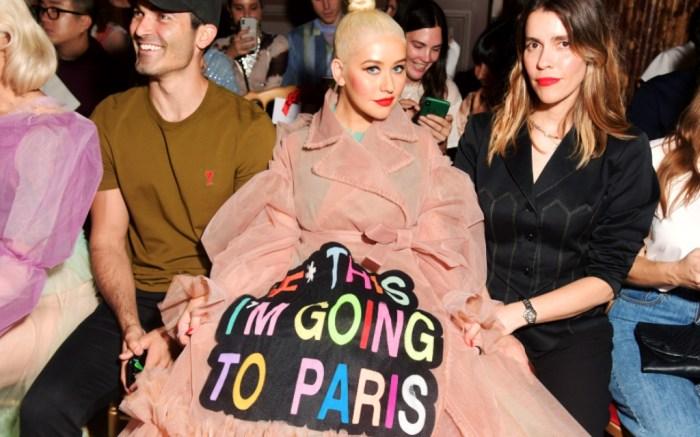 Christina Aguilera, Viktor & Rolf couture fall 2019 show