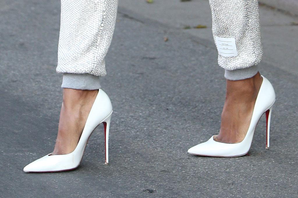 Ciara, Christian Louboutin So Kate pumps, stilettos, celebrity street style,