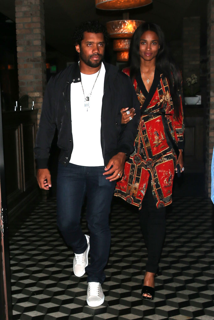 russell wilson, ciara, date night, celebrity style