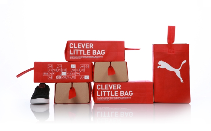 Puma x Fuseproject Clever Little Bag shoe packaging