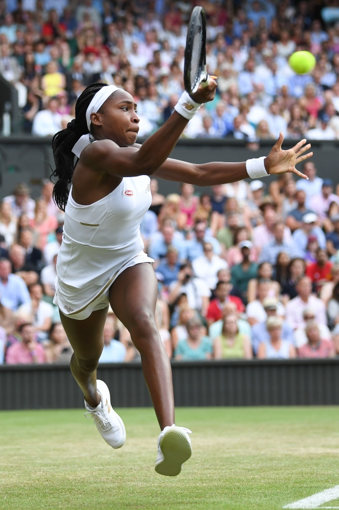 Cori Gauff during her Ladies' Singles third round match, new balance, wimbledon