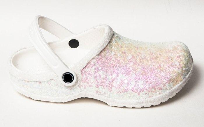Crocs' bridal clogs