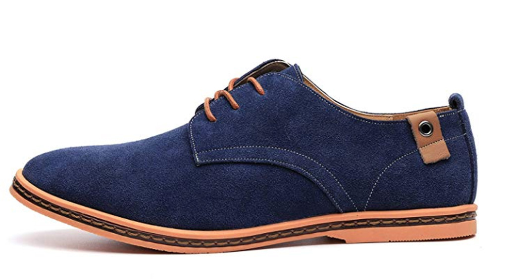 Dadawen Classic Suede Leather Oxford Shoes