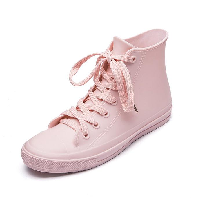 Dksuko Women's High Top Rain Shoes