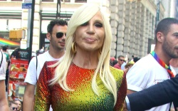 Donatella Versace pictured at the World