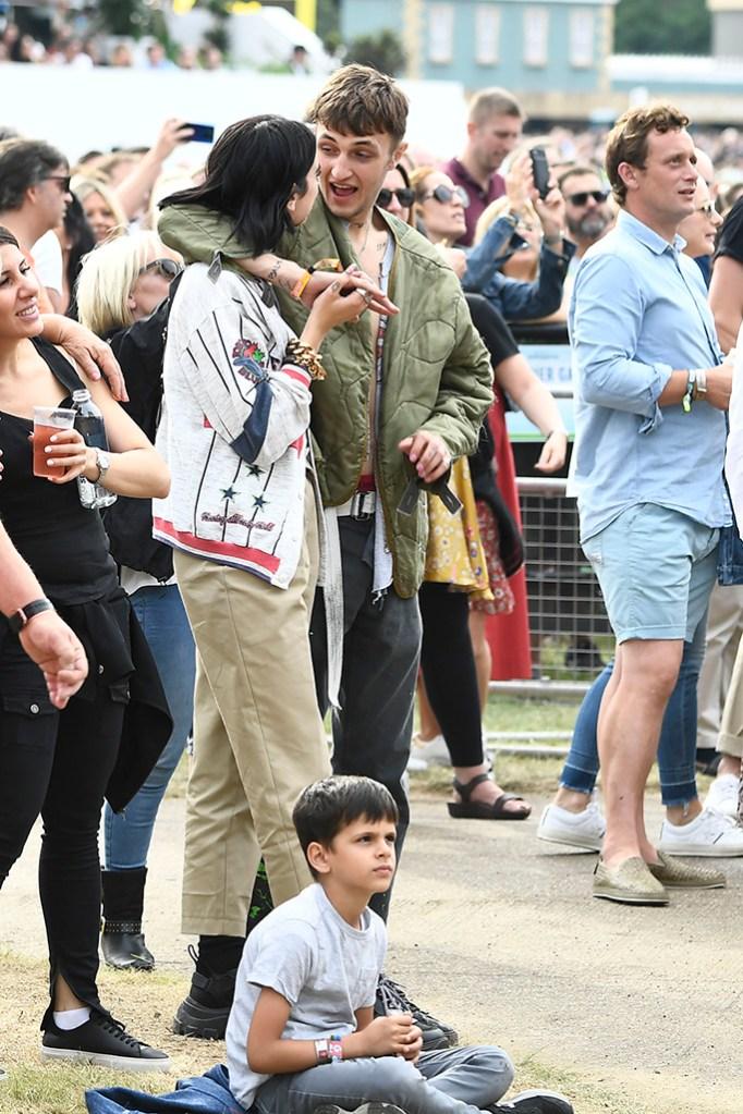LONDON, ENGLAND - JULY 6: Dua Lipa and Anwar Hadid watching Lionel Richie at British Summertime, Hyde Park on July 6, 2019 in London, England. 06 Jul 2019 Pictured: Dua Lipa and Anwar Hadid. Photo credit: MAR/Capital Pictures / MEGA TheMegaAgency.com +1 888 505 6342 (Mega Agency TagID: MEGA460751_005.jpg) [Photo via Mega Agency]