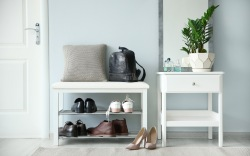entryway benches, shoe storage