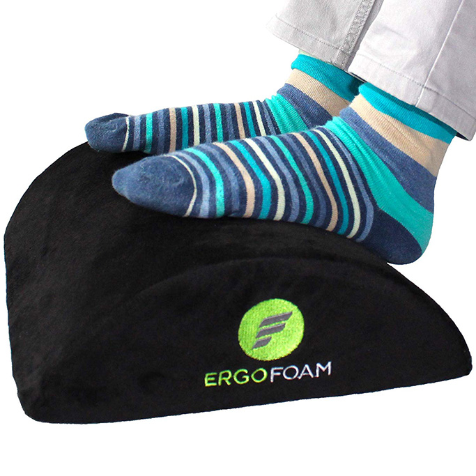 ErgoFoam footrest, under desk footrest