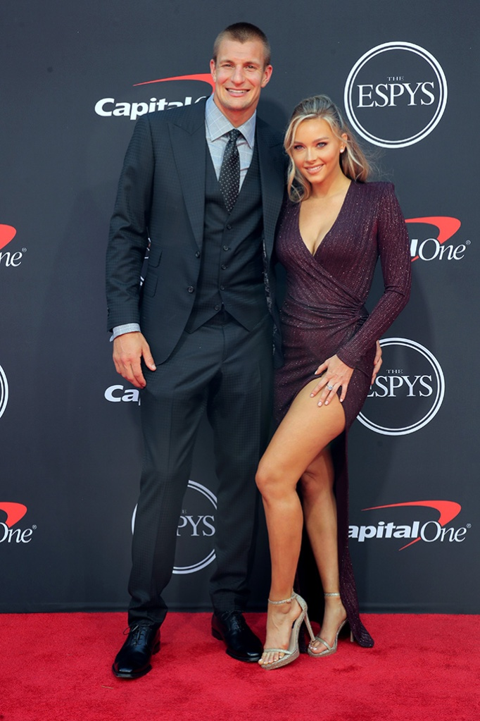 Rob Gronkowski and Camille KostekESPY Awards, Arrivals, Microsoft Theater, Los Angeles, USA - 10 Jul 2019