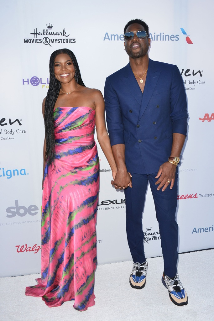 Gabrielle union, semsem resort 2020, celebrity style, red carpet, Gelareh Mizrahi bag, Sophie rather jewelry, The HollyRod Foundation's 21st Annual DesignCare GalaPictured: Gabrielle UnionRef: SPL5106344 270719 NON-EXCLUSIVEPicture by: Tony DiMaio / SplashNews.comSplash News and PicturesLos Angeles: 310-821-2666New York: 212-619-2666London: 0207 644 7656Milan: 02 4399 8577photodesk@splashnews.comWorld Rights, Dwyane wade, li-ning sneakers, The HollyRod Foundation's 21st Annual DesignCare GalaPictured: Gabrielle Union and Dwyane WadeRef: SPL5106344 270719 NON-EXCLUSIVEPicture by: Tony DiMaio / SplashNews.comSplash News and PicturesLos Angeles: 310-821-2666New York: 212-619-2666London: 0207 644 7656Milan: 02 4399 8577photodesk@splashnews.comWorld Rights