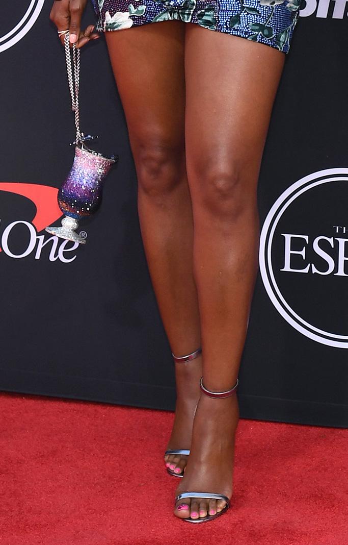 silver sandals, feet, Gabrielle Union and Dwyane WadeESPY Awards, Arrivals, Microsoft Theater, Los Angeles, USA - 10 Jul 2019