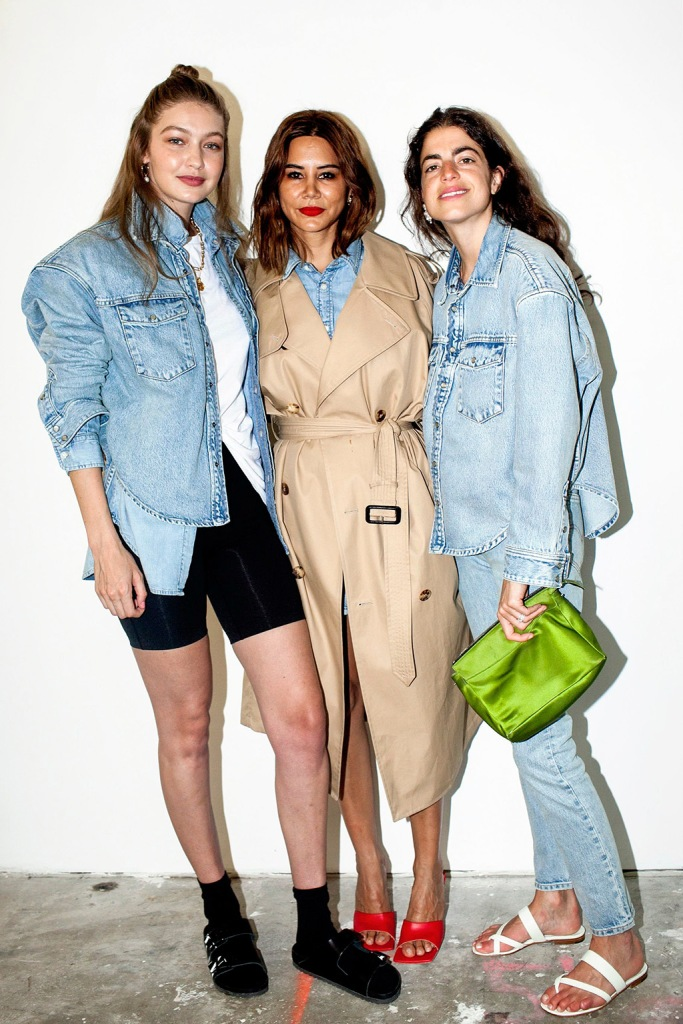 Gigi Hadid, Christine Centenera and Leandra MedineWardrobe.NYC's forthcoming collaboration with Levi's and latest collection, Release 04 Denim, 150 Wooster St, New York, USA - 17 Jul 2019