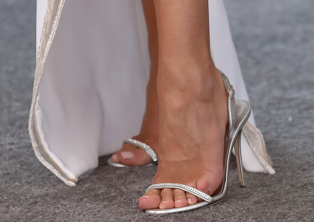 Rosie Huntington-Whiteley, giuseppe zanotti slingback sandals