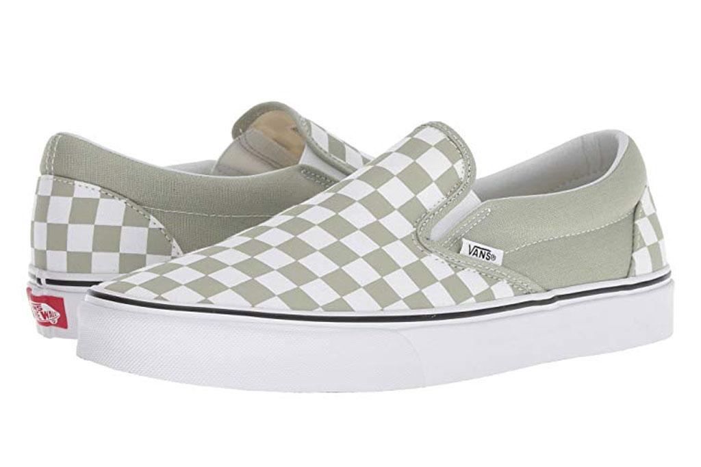 Vans Desert Sage sneakers, checkerboard, slip-ons