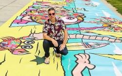 Havaianas mural, venice beach, buff monster
