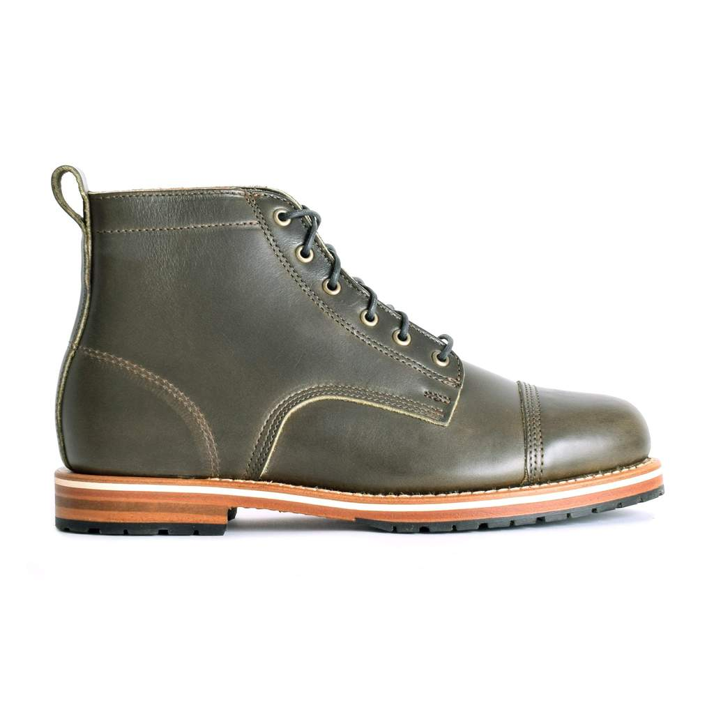 helm boots, olive boots, men's boots