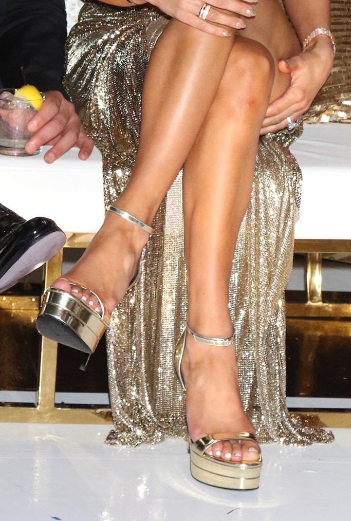 Jennifer Lopez S 50th Birthday Bash Included Head Banging In Heels Footwear News